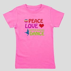 Peace Love Scottish Highland Girl's Tee