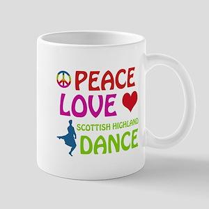 Peace Love Scottish Highland Mug