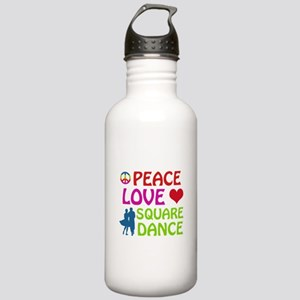 Peace Love Square dance Stainless Water Bottle 1.0