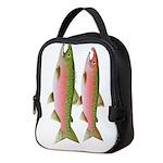 Coho Pacific Salmon Couple v Neoprene Lunch Bag