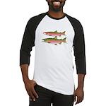 Pacific Coho Salmon fish couple Baseball Jersey