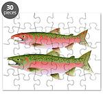 Pacific Coho Salmon fish couple Puzzle