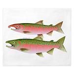 Pacific Coho Salmon fish couple King Duvet