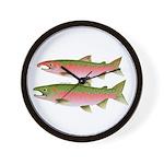 Pacific Coho Salmon fish couple Wall Clock
