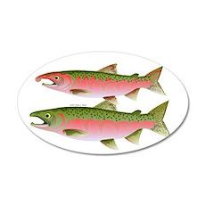 Pacific Coho Salmon fish couple Wall Decal