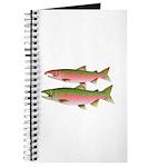 Pacific Coho Salmon fish couple Journal