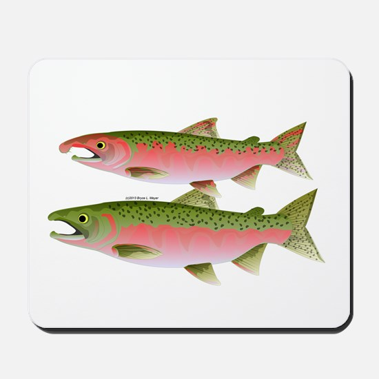 Pacific Coho Salmon fish couple Mousepad