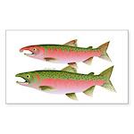Pacific Coho Salmon fish couple Sticker