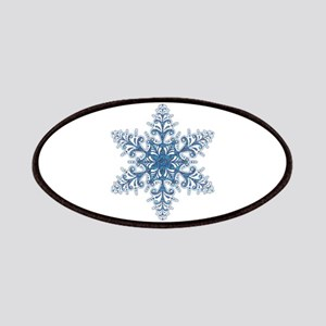Blue Snowflake Patches