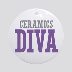 Ceramics DIVA Ornament (Round)