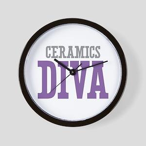 Ceramics DIVA Wall Clock
