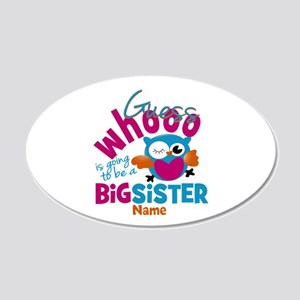 Personalized Big Sister - Owl Wall Decal