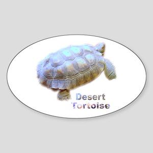 desert tortoise Oval Sticker