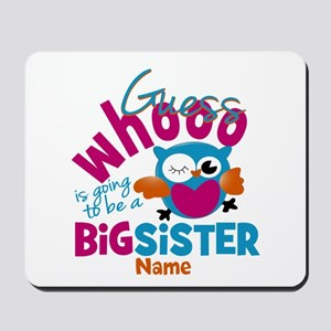 Personalized Big Sister - Owl Mousepad