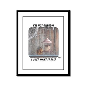 greedy Framed Panel Print