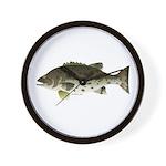 Giant Black Sea Bass fish Wall Clock