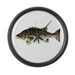 Giant Black Sea Bass fish Large Wall Clock