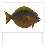 Halibut fish Yard Sign