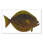 Halibut fish Sticker