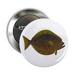 """Halibut fish 2.25"""" Button"""