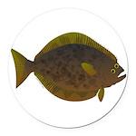 Halibut fish Round Car Magnet