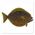 Halibut fish Square Car Magnet 3