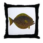 Halibut fish Throw Pillow