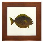 Halibut fish Framed Tile