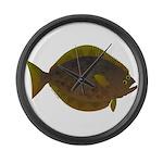 Halibut fish Large Wall Clock