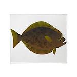 Halibut fish Throw Blanket