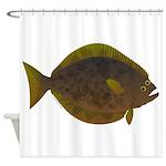 Halibut fish Shower Curtain
