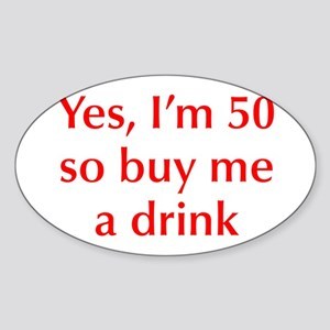yes-Im-50-opt-red Sticker