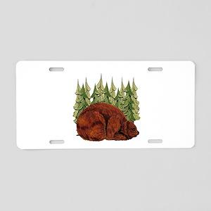 SNUGGLE TIME Aluminum License Plate