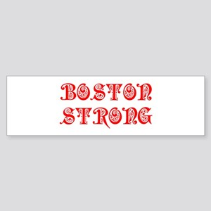 boston-strong-pre-red Bumper Sticker