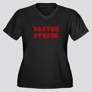 boston-strong-pre-red Plus Size T-Shirt
