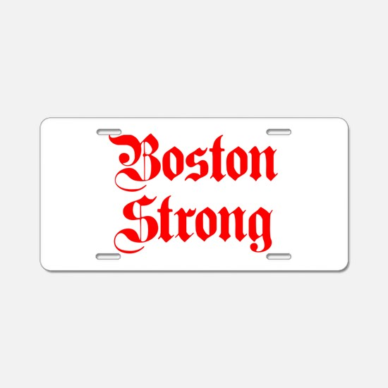 boston-strong-pl-ger-red Aluminum License Plate