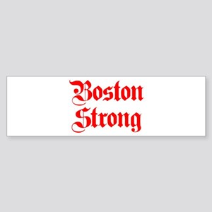 boston-strong-pl-ger-red Bumper Sticker