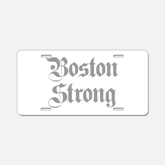 boston-strong-pl-ger-gray Aluminum License Plate