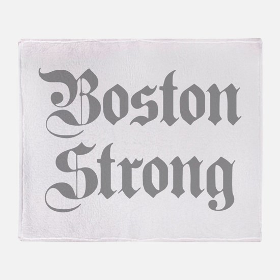 boston-strong-pl-ger-gray Throw Blanket