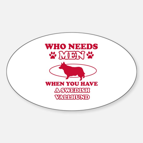 Swedish Vallhund Mommy designs Sticker (Oval)