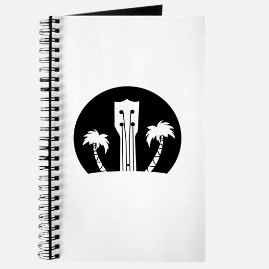 Ukelele and Palm Trees in Black and White Journal