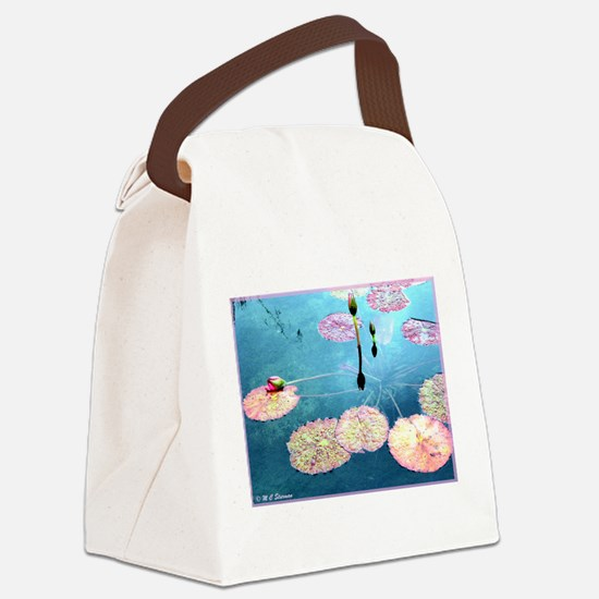 Water Lilies! Nature Photo! Canvas Lunch Bag
