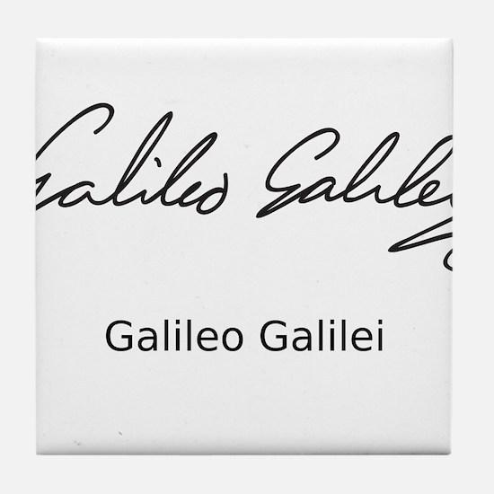 Galileo Galilei's Signature Tile Coaster