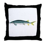 White Sturgeon fish Throw Pillow