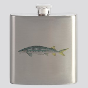 White Sturgeon fish Flask