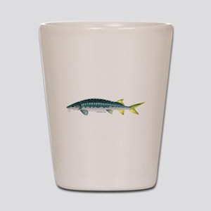 White Sturgeon fish Shot Glass