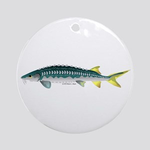 White Sturgeon fish Ornament (Round)