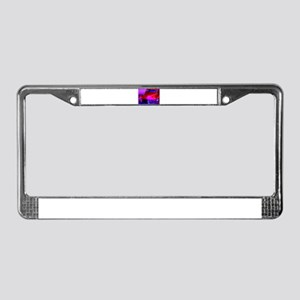 Bright, red car! Photo! License Plate Frame