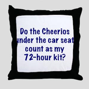 72-Hour Kit? Throw Pillow
