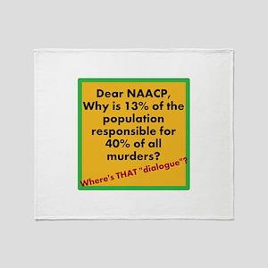 Dear NAACP Throw Blanket